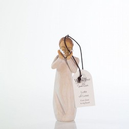 Bomboniera per Matrimonio Statua Willow Tree lots of love ornament confezionata