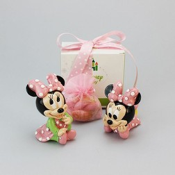 Minnie  Disney baby 2 sogg assortiti con sacco in organza