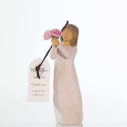 Bomboniera per Comunione Statua Willow Tree thank you ornament confezionata