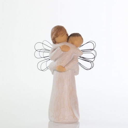 Bomboniera per Battesimo Statua Willow Tree angel's embrace confezionata