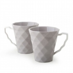Bomboniera per Matrimonio Hervit set 2 tazze mug color fango in porcellana