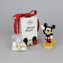 Mickey Mouse Disney in resina con sacchetto in organza